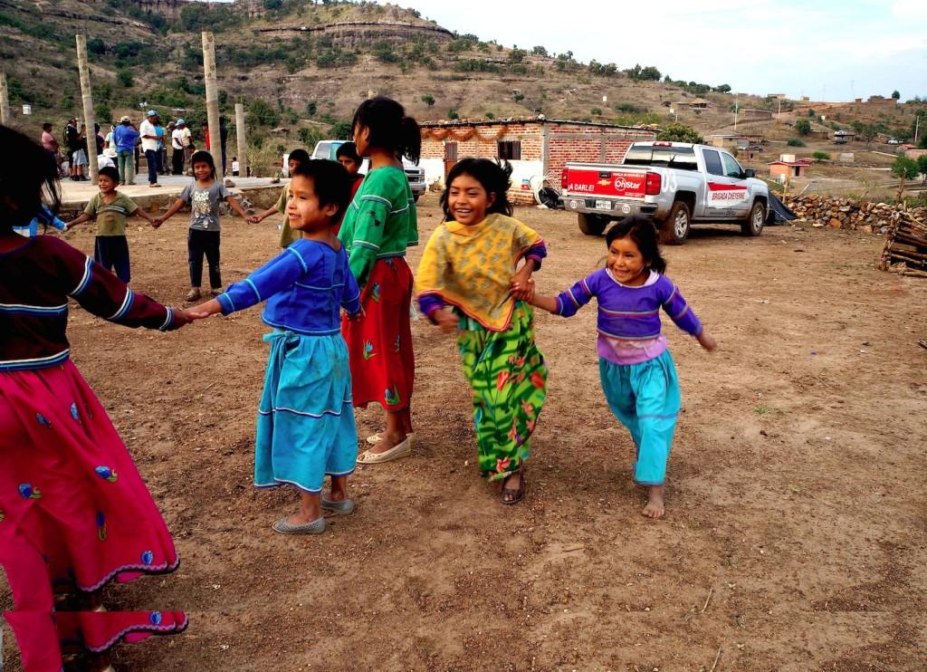Brigada Cheyenne en la comunidad La Cebolleta en Jalisco donde transportó materiales para sistemas de captación de agua pluvial