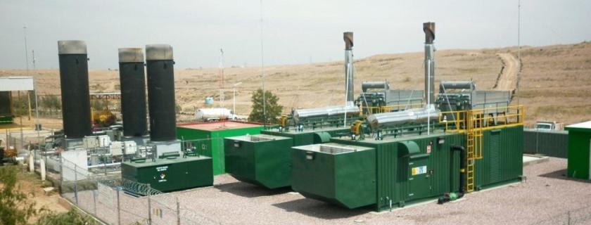La planta de biogás que abastece a A1 utiliza como combustible el metano, generado a partir de la basura orgánica del relleno sanitario del municipio.