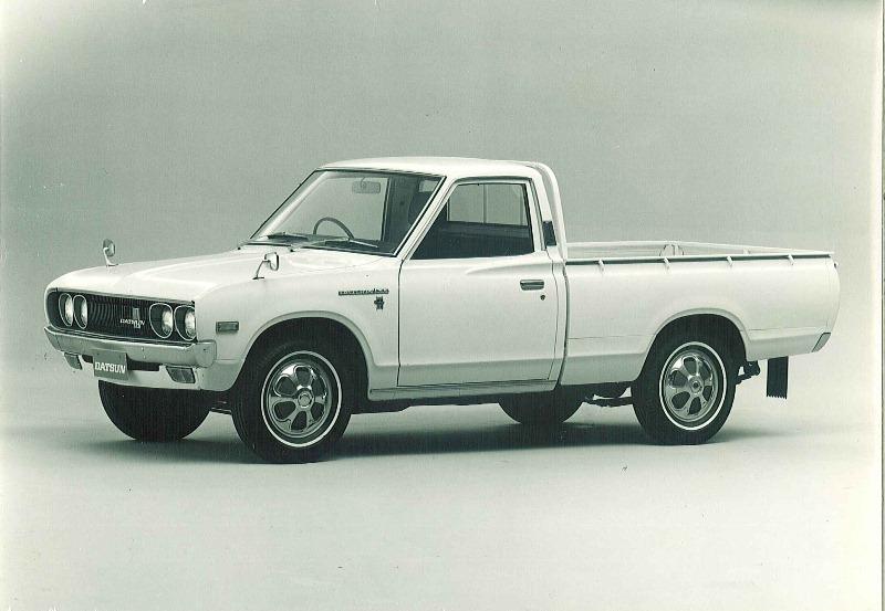 """1972 – La Datsun 620 fue la primera pickup de la marca en ofrecer """"King Cab"""" y """"Double Cab""""."""