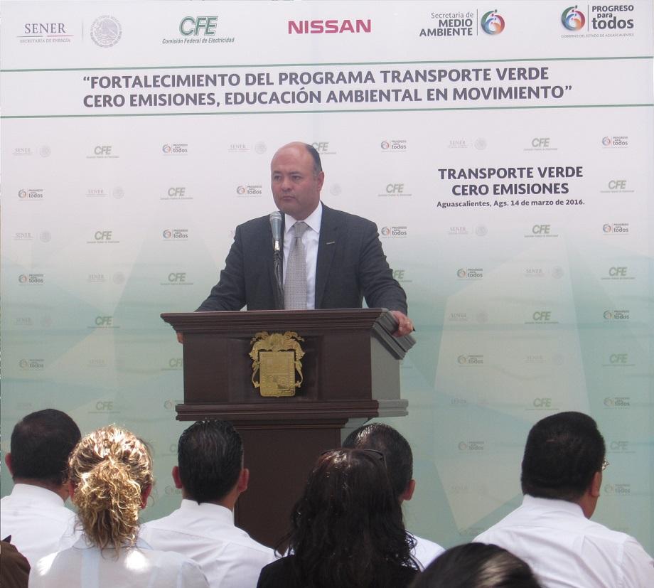Jorge Vallejo, director de la División Cero Emisiones y director de Exportaciones, Relaciones Institucionales y Asuntos Exteriores de Nissan Mexicana