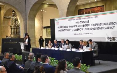 SCT participó en foro del Senado sobre acuerdo bilateral aéreo