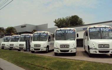 Autobuses de alta tecnología en el transporte público de Querétaro