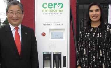 Nissan inaugura primera estación para vehículos eléctricos