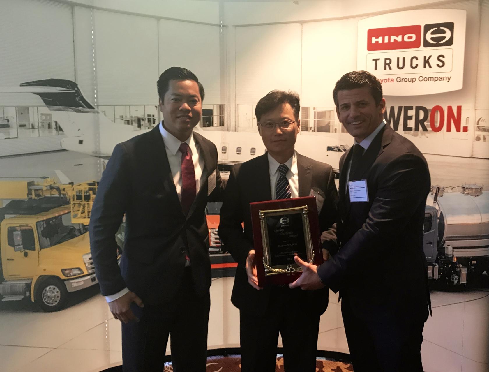 Meritor WABCO, reconocida por Hino Motors en excelencia y rendimiento