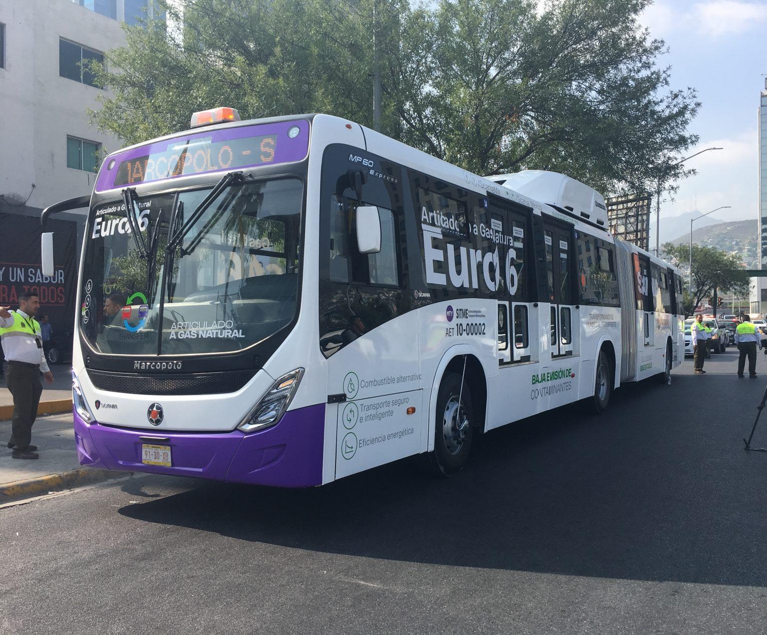 Scania, con articulado a GNC Euro 6 por primera vez en México