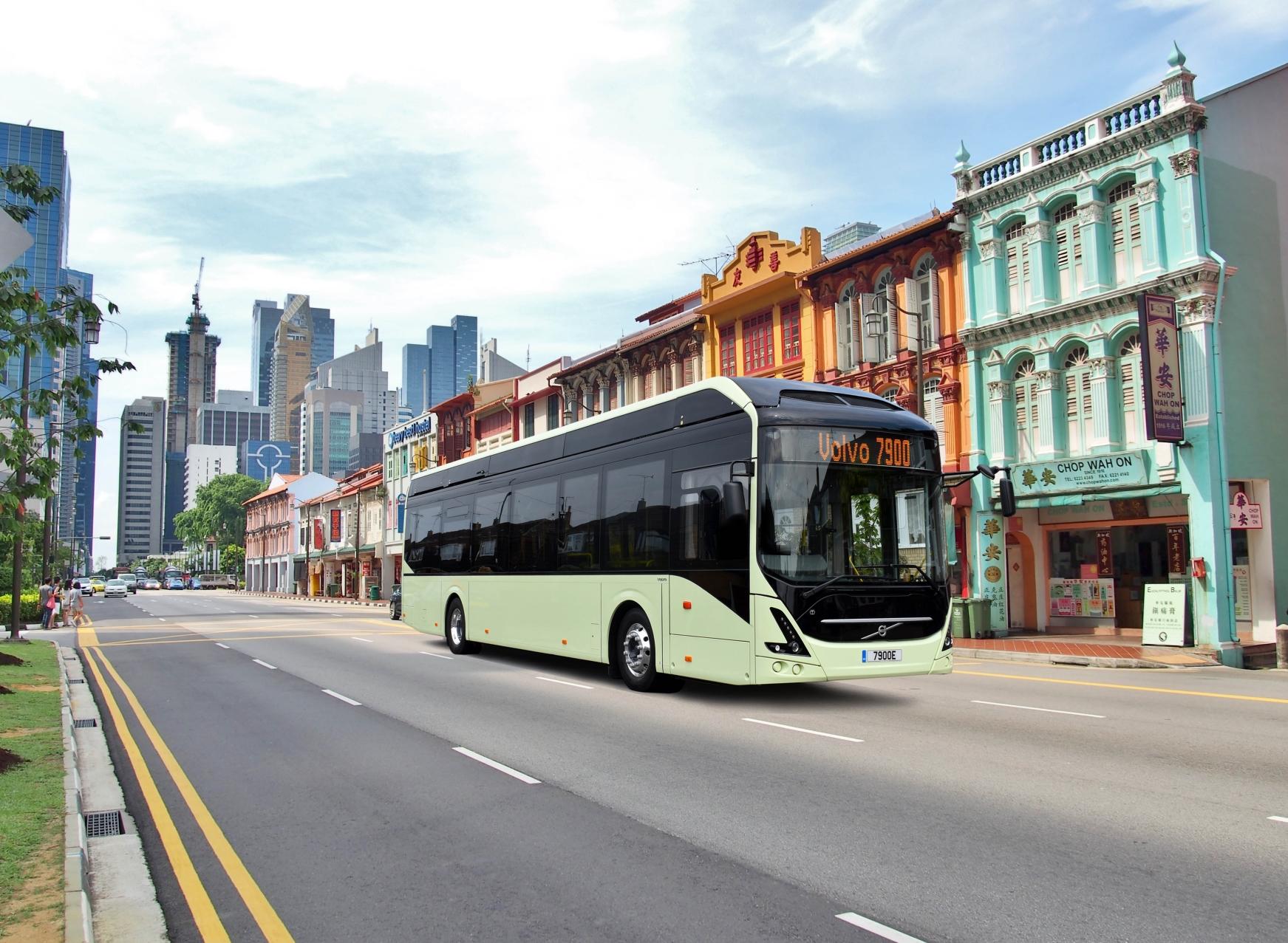 Volvo probará autobuses eléctricos autónomos en Singapur