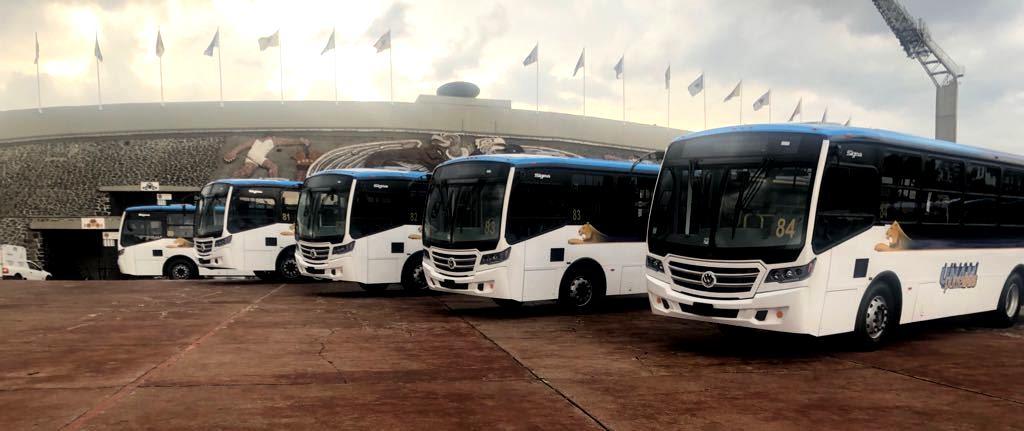 Pumabús de la UNAM se renueva con unidades Volksbus