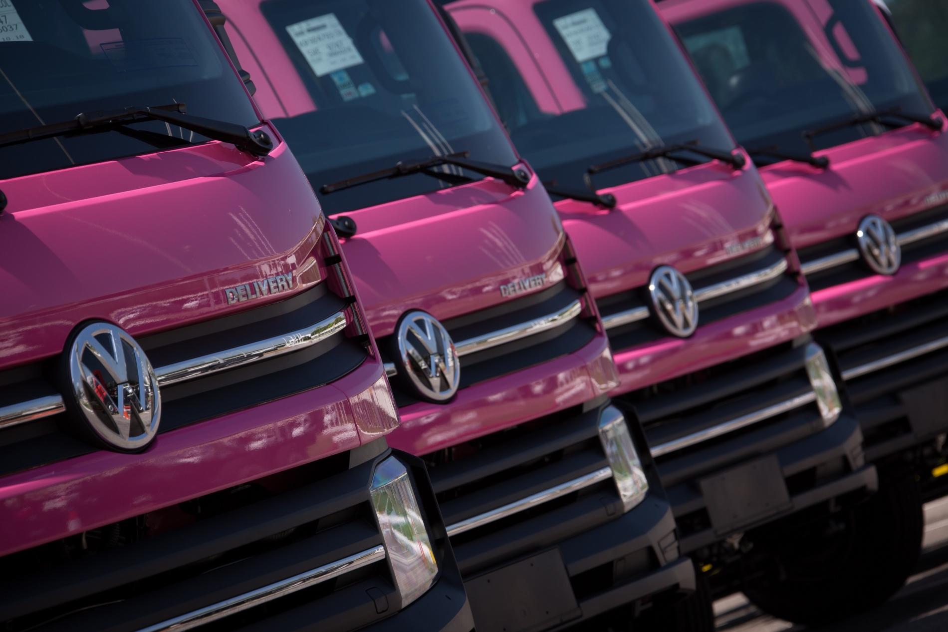 Rosa, color inédito para el nuevo Volkswagen Delivery