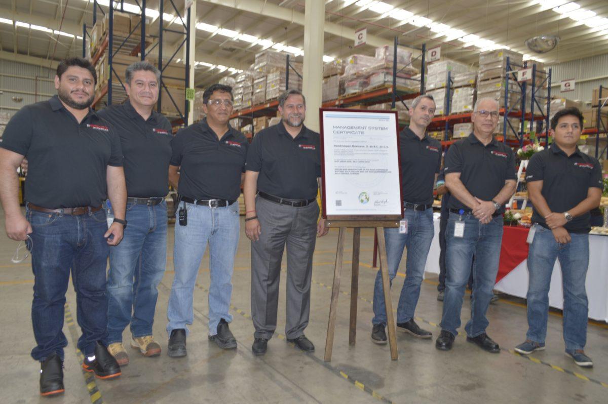 Hendrickson Mexicana, certificada en calidad de operación